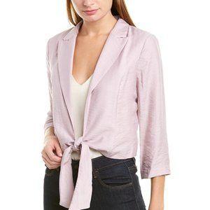 Vince Camuto 2X purple tie front blazer jacket